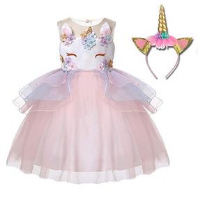 Disfraz Vestido De Unicornio Niña Tutu Naranja De Freeprance