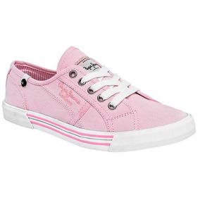 Tenis Pepe Jeans Putney Rosa Tallas Del #22 Al #26 Mujer Ppk