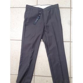 Pantalón Gris De Vestir Formal Kenneth Cole Slim Fit 30x32