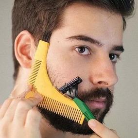 Peine Barba Barbero Guia Molde Angular Corte Bigote Cepillo