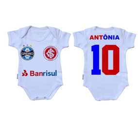 5a7aeced73 Camisa Gremio E Inter - Roupas de Bebê no Mercado Livre Brasil