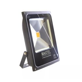 Refletor Led 50w Holofote Maxtel Bivolt Branco Frio
