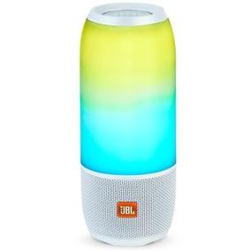 Caixa De Som Portatil Jbl Box Pulse 3 Branco - 20w Rms, Blu
