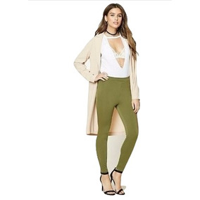 Forever 21 Pantalon Skinny Entubados Vestir Casual Verde M-l