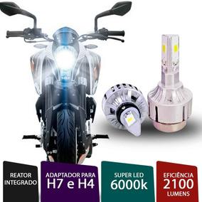 Lâmpada Super Led 3d H4 / H7 6000k Para Moto Cg 160 Titan Ex