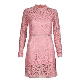 Vestido Feminino Renda Rosa Elegante Festa Social Casamento