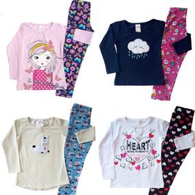 Kit 10 Conjunto Infantil Feminino Menina Cotom 1 Ao 8