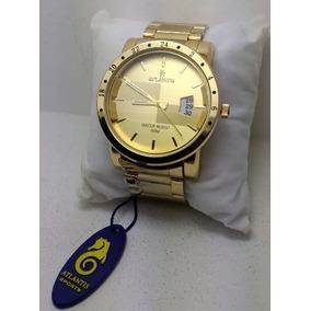 68c096307de Relogio Atlantis Style Dourado Com - Relógios De Pulso no Mercado ...