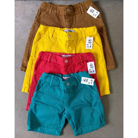 Bermudas Infantil Brim Color Kit Com 10 Und