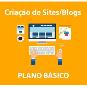Criação De Site/blog Em Wordpress - Plano Básico Mensal