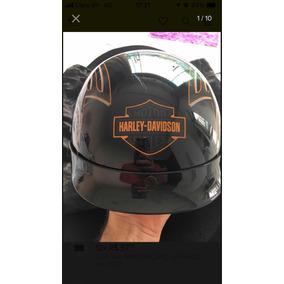 Capacete Harley Davidson Aberto Original, Impecável!