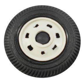 Jogo 400 Rodas 4cm Plástico Miniatura Brinquedo Caminhão