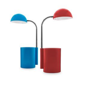 Luminária De Mesa Led Com Porta Canetas Cores 110v