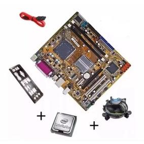 Kit Placa Mãe Celeron 1gb Ddr2 + Cooler C/ Garantia + Brinde