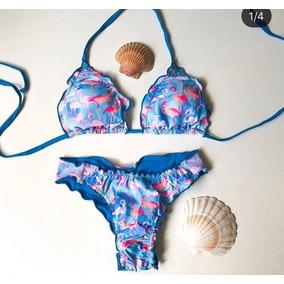 Biquini Flamingo Tamanho G - Biquinis G Femininas Azul no Mercado ... 2d7e0a0e06