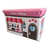 Caja Taburete Plegable Para Almacenamiento Cake Shop