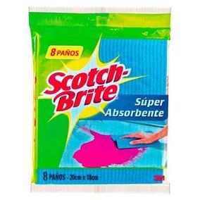 Scotch Brite® Paño Absorbente, 8 Unidades , 3m®