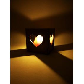Fanal Corazón Fibrofacil Pintable Decoración Hogar