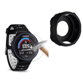 Capa Protetora Silicone Relógio Garmin 235 + Película Vidro