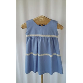 Vestido Para Niñas 100% Lino Italiano Envio Gratis!!!