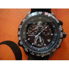 5ef7285ee5c Relogio Timex Indiglo Wr 100m Chromo Alarme Tachymeter Novo