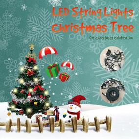 484ef1c4a2ee3 Luces Cadena Luces Centelleo Hada Led Árbol Navidad 64 Leds