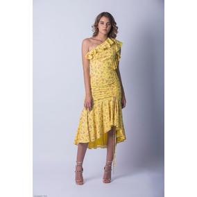 Reina Diaz Vestido 3/4 Escote Asimétrico Detalle 524471
