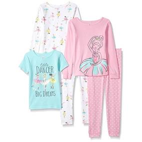 Pijamas De Algodón De 5 Piezas Para Niñas De Carter