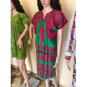 Vestido Huipil Dama Bordado Artesanal Oaxaca Mexicano