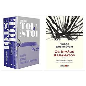 Box Livro Tolstoi 3 Vol + Irmãos Karamazov 2 Vol Dostoiévski