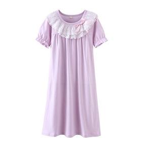 Camisas De Dormir De Bowknot De Camisones Para Ninas De Zego