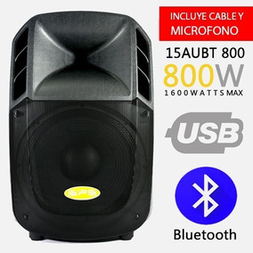 Corneta Amplificada Sps Audio 15 Aubt 800 Watt Bluetooth Usb