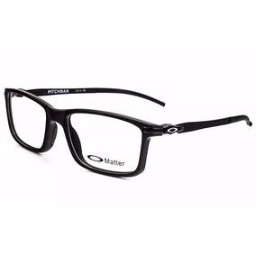 e72e32a74b5b3 Armação P  Oculos De Grau Masculino Ox8050 Black Original