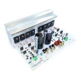 Placa Amplificador 400w Estéreo, Fonte Embutida E Dissipador