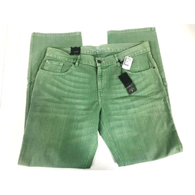 Remate Pantalon Mezclilla Hombre Verde Deslavado Ecko