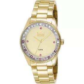 ebecefa4956 Relógio Dourado Feminino Femininos Dumont - Relógios De Pulso no ...