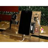 Organizador Porta Celular, Llaves, Cartera, Reloj En Madera