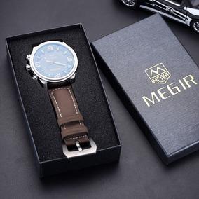 Relógios Masculino Megir Top Marca De Luxo Militar Original