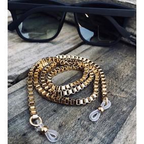 f57fa31a9dfb4 Corrente Em Ouro Para Segurar Oculos - Joias e Bijuterias no Mercado ...
