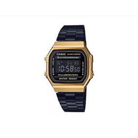 b6d81a35d74 Relogio Casio Vintage Dourado E Preto Masculino - Relógios De Pulso ...