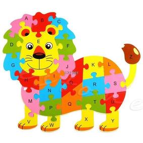 Quebra Cabeça Infantil Alfabeto De Madeira 26pçs