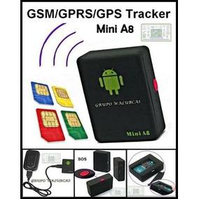 Mini Escuta A8 Espiã Gsm Localizadora Gps Celular Kit Com 4