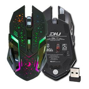 Mouse Gamer 3200dp Iluminação Led Rgb Sem Fio Dhj-911