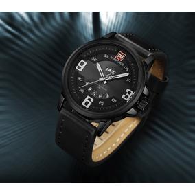 Relógio Navi Force Pronta Entrega Promoção Aço Inox Couro