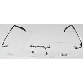 6bba435775380 Armação Oculos Grau Silhouette Titanio Sem Aro Preta Dobra