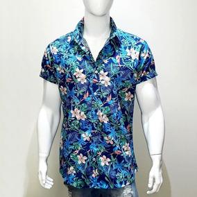 Camisa Floral Estampa Florida Camiseta Havaiana Slim Fit