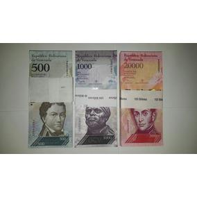 3 Centenas Fe 500, 1k E 20k Bolívares
