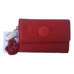 Kipling Cartera Pixi Rojo Cherry 100% Original
