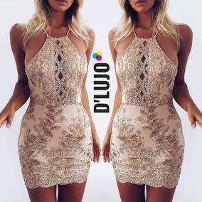 ed06dc05d7199 Vestido Dorado - Vestidos de Mujer en Mercado Libre Colombia