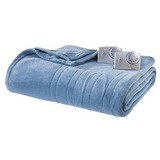 Biddeford Microplush Analog King Electric Blanket, Blue